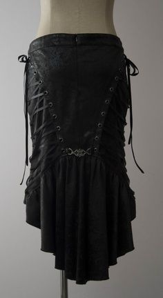 leather skirt, back