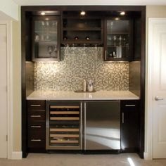 Home dry bar design ideas
