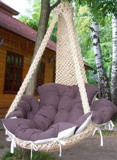 Мобильный LiveInternet Мастер-класс плетения кресло-гамаке в стиле макраме | Ирина_Зелёная - Всё самое модное, интересное и вкусное вы найдёте у perchica |