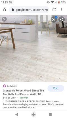 Seaside Cottage Decor, Wood Effect Tiles, Cottage Interiors, Porcelain Tile, Montenegro, Wall Tiles, Tile Floor, Interior Decorating, Decor Ideas