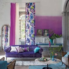 The founder of Designers Guild, Tricia Guild, shares her expert advice for creating a colourful home Decor, Furnishings, House Design, Ombre Wall, Furniture, House Colors, Interior Design, Home Decor, House Interior