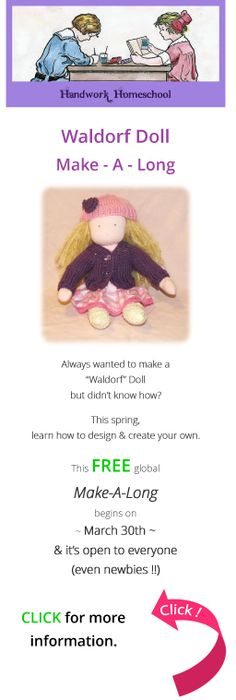 Waldorf Doll Make-A-Long  It's FREE - come see what it's all about....