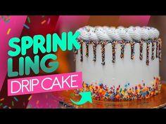 CHANTININHO: SPRINKLING DRIP CAKE - YouTube Bolo Drip Cake, Drip Cakes, Cake Youtube, Sprinkles, Birthday Cake, Neon Signs, Banana, Desserts, Conch Fritters