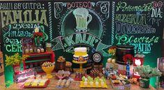 mesa festa decoração boteco