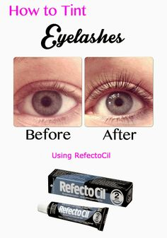 How to tint your eyelashes using RefectoCil.  Lasts about 6 weeks.  DIY