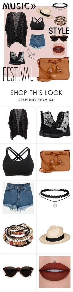 """""""Musical"""" by melodic-curse ❤ liked on Polyvore featuring T.U.K., Kate Spade, Roxy and RetroSuperFuture"""