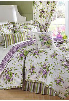 Waverly® Sweet Violets Quilt Set Collection #belk #home