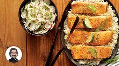 Saumon teriyaki à l'érable et à la lime avec salade de fenouil et de radis de Christian Bégin. #IGA #recette #saumon