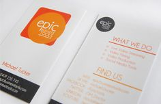 epic business tools logo design and business card design