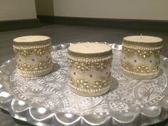 Lace Decorated Candles @ 300