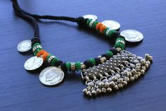 Handmade Tribal Banjara necklace Vintage Coin by AristaBeadsI am jewellery artists call me 9910916014