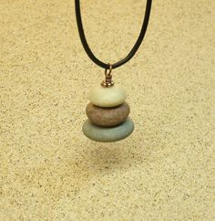 Up North Lake Michigan Beach Stone Pebble Cairn by StoneCairns