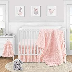 Perfect for your Baby and Nursery Sweet Jojo Designs Pink Floral Rose Baby Girl Nursery Crib Bedding Set – 4 Pieces – Solid Light Blush Flower Luxurious Elegant Princess Vintage Boho Shabby Chic Luxury Glam High End Ruffle Roses,Sweet Jojo Designs Pink Floral Rose Baby Girl Nursery Crib Bedding Set - 4 Pieces - Solid Light Blush Flower Luxurious Elegant Princess Vintage Boho Shabby Chic Luxury...