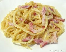 Okay, this is one that I have posted before, but now that my younger son grew out of his egg allergy, we were able to make this fo. Pasta Carbonara, Egg Allergy, Italian Recipes, Favorite Recipes, Ethnic Recipes, Fresh Ham, Food Fresh, Italian Lunch, Custard