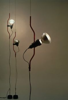 Parentesi floor to ceiling lamp designed by Achille Castiglioni, 1970