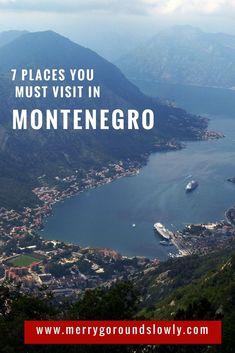 7 Best places in Montenegro: A list of best places to visit in Montenegro, including Kotor, Budva, Ulcinj Velika Plaza Beach, Lake Skadar, Durmitor and the Black Lake. #montenegro #balkans #budva #kotor #durmitor #europe #travel #inspiration