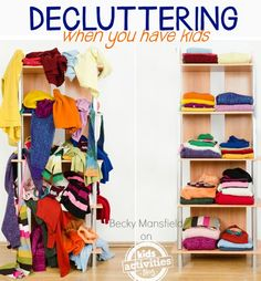 Decluttering the house {when you have kids} can seem impossible! Here are 50 tips to help to make it a little easier.