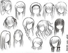 How to draw anime hair google search