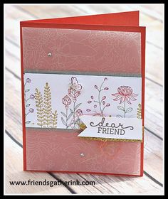 Flowering Fields stamp set by Stampin' Up! - Rina Meushaw