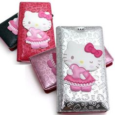 Authentic Hello Kitty Standing Flip Case Samsung Galaxy S5 Case 6 Colors wallet #HelloKitty