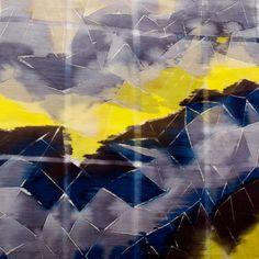 Floating Geometry silk/ wool scarf | Bonana van Mil