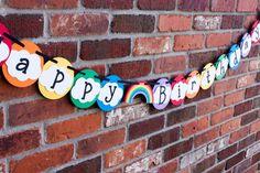 Rainbow Party Banner, Unicorn Birthday Banner - Rocky Mountain Mama on Etsy