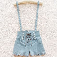 RETRO DOUBLE-BREASTED HIGH WAIST DENIM OVERALLS – Tepayi