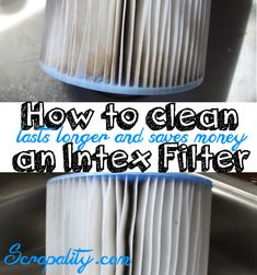 How to Clean an Intex Filter to Save Money - Pool Cleaning Tips, Cleaning Hot Tub, Diy Swimming Pool, Diy Pool, Pool Fun, Cleaning Above Ground Pool, Intex Whirlpool, Cloudy Pool Water, Piscina Intex