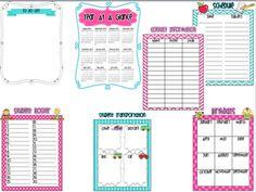Teacher binder pages