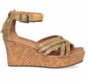 Bronzen/Gouden Ugg schoenen Lillie sandalen