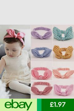 Aggressive Baby Toddler Girls Pink Floral Bowknot Hairband Turban Headband A Great Variety Of Models Clothing, Shoes & Accessories