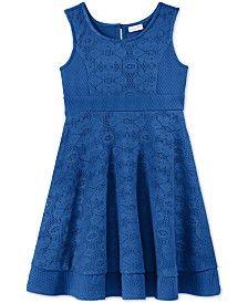 Sweet Heart Rose Little Girls' Sleeveless Crochet Dress