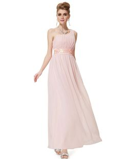 Ever Pretty One Shoulder Empire Line Sequins Padded Long Evening Gown 09770 at Amazon Women's Clothing store: Dresses