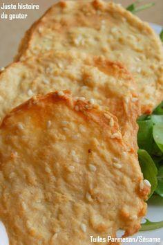 Juste histoire de goûter: Tuiles Parmesan & Sésame