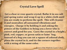 Crystal love spell
