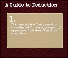 A Guide To Deduction. Sherlock would notice. Writing Tips, Writing Prompts, Essay Writing, Guide To Manipulation, A Guide To Deduction, The Science Of Deduction, Detective, L Death, Pseudo Science