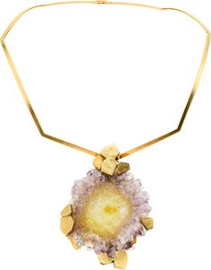 Amethyst, Diamond, Gold Pendant-Necklace, Andrew Grima, London