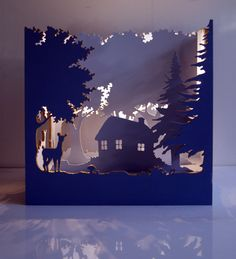 """""""Le théatre enchanté"""", lampe d'ambiance en bois : Luminaires par loois-design"""