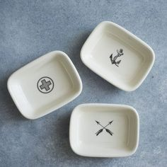 Izola Soap Dishes - $21
