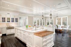 White Kitchen: Grand Manor in Greenwich, Conn.