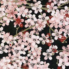http://www.plushaddict.co.uk/wilmington-prints-hanami-falls-black-packed-cherry-blossom.html Wilmington Prints - Hanami Falls Black Packed Cherry Blossom - cotton fabric
