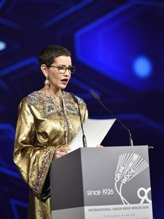 royalwatcher: Lalla Meryem read a speech from her brother King Mohammed during the opening ceremony of the 81st International Green Week, Berlin, January 14, 2016