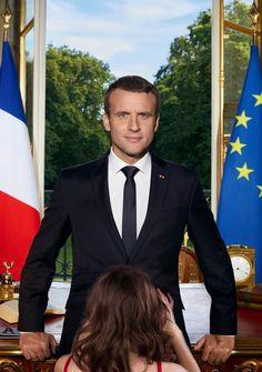 Macron se fait taillés une pipe par sa secrétaire