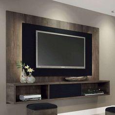 Painel para TV Lume Terrarum Nature e Preto HB Móveis
