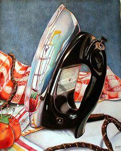 Kathrine Lemke Waste - Despite my disdain for ironing, I still think this painting is amazing!