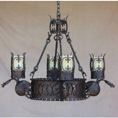 Gothic Dragon chandelier