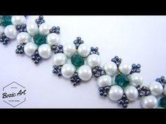 Elegant Pearl Beaded Bracelet, Wedding jewelry Super Easy Tutorial
