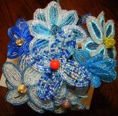 Seed bead flowers