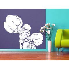 Storm Trooper Fist Fight Star Wars Vinyl Sticker Wall Art