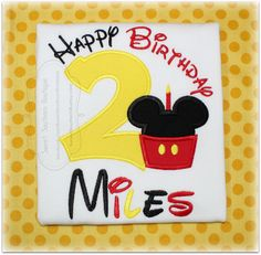 Mouse 2nd birthday shirt custom embroidered applique child girl boy baby onesie outfit monogram 1 2 3 4 5 6 7 8 9 first gift 1st Mickey